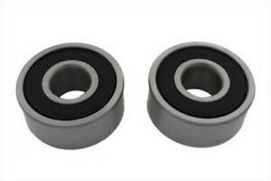 Pair 25mm I D Double Row Sealed Wheel Bearings For Harley Models Oem 9276