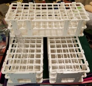 3 Test Tube Holders Plastic White