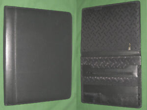 8 5x11 Note Pad Black Leather Echelon Planner Binder Franklin Covey Monarch 9522