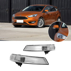 Set Of Wing Mirror Indicator Turn Signal Light Lens Cover For 2008 16 Ford Focus