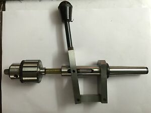 Lathe Tailstock Attachment 2mt Shank For Fine Drilling Purpose Manual Feed