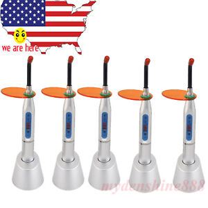 5sets Silver Noiseless Dental Led Curing Light Lamp 2000mw W 12mm Optical Fiber