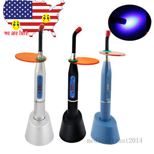 Stable Noiseless Cordless Dental Led Curing Light Lamp 2000mw 12mm Fiber Guide