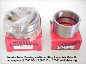 Mcgill Mr48 Roller Bearing 3 750 Od X 1 750 W Mi40 Inner Ring 2 5 Id X 1 76 W