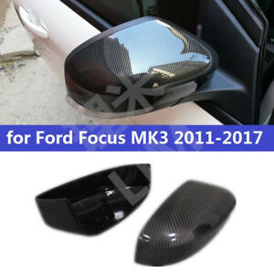 Abs Carbon Fiber Side Wing Rear View Mirror Cover For Ford Focus Mk3 2011 2017