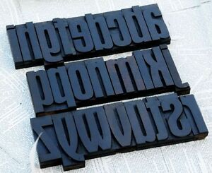 A z Art Nouveau Alphabet 4 41 Letterpress Wooden Printing Blocks Wood Type Abc