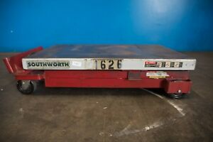 1 100 Lb Southworth Cll1 1 26 Hydraulic Scissor Lift Table 24 x40 X10 37 High