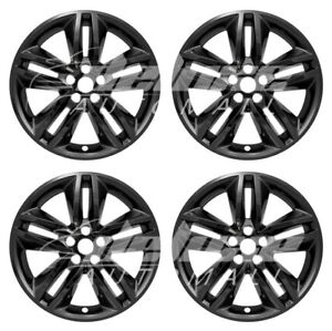 18 Black Wheel Skins Covers Hubcaps 4 Pcs For 2015 2016 2017 2018 Ford Edge