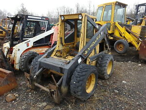 New Holland L785 Skid Steer Loader Perkins Dsl Runs Works L 785 Quick Attach