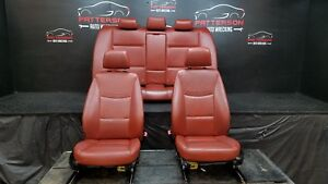 2009 Bmw 335i Front Rear Power Leather Bucket Seats Red