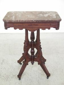 F30130ec Antique Victorian Marble Top Occasional Table