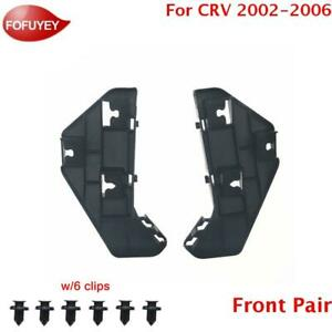 New Bumper Holder Mounting Bracket One Pair For Honda Cr V 2002 2006 Front