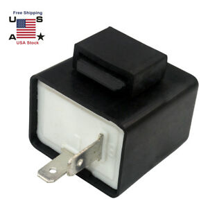 2 Pin Electronic Led Turn Signal Flasher Relay Fix For Light Fast Hyper Flash Us