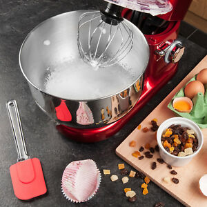 6 Speed Food Stand Mixer With 4 5l Mixing Bowl Dough Hook Whisk beater