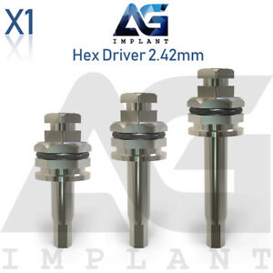 Hex Driver 2 42mm Manual Screwdriver Surgical Tool For Dental Implant