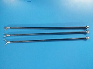 Laparoscopic Insert Grasping Forceps 3pc Instruments With Handle 5x330 Addler