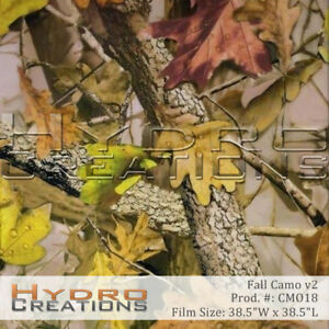 Hydrographic Film Hydro Dipping Water Transfer Fall Camo V2 38 5 X 38 5