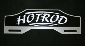 Hot Rod New License Plate Tag Topper Ford Chevrolet Rat