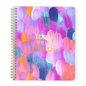 Today Will Be Fabulous Berry Brushstroke 8x10 18 month Spiral Agenda Planner