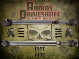 Adams Driveshaft Jl Front Rear 1310 Cv Driveshaft Package With Solid U Joints