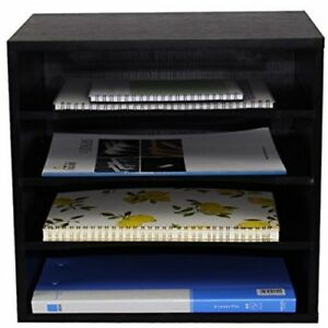 Pag Office Supplies Desk Organizer Wood File Mail Sorter With 3 Adjustable
