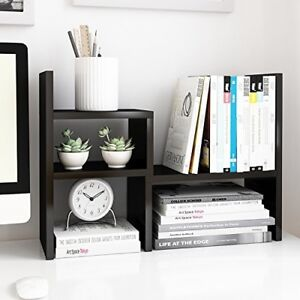 Jerry And Maggie Desktop Organizer Office Storage Rack Adjustable Wood Shelf