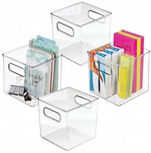 Mdesign Plastic Office Supply And Home Desk Storage Shelf Cubical Organizer For