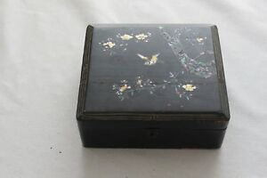 Antique Japanese Wood Lacquer Box