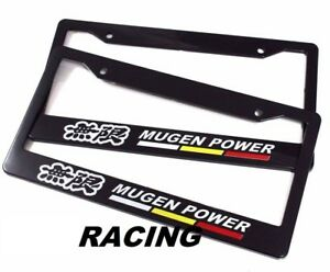 X2 Mugen Power Racing License Plate Frame For Civic Integra Si Rsx Dc5 Dc2 Nsx