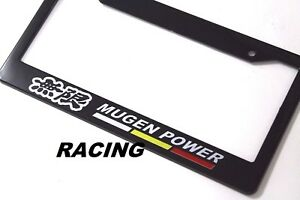 X1 Mugen Power Racing License Plate Frame For Honda Civic Accord Si Rsx Dc5 Dc2