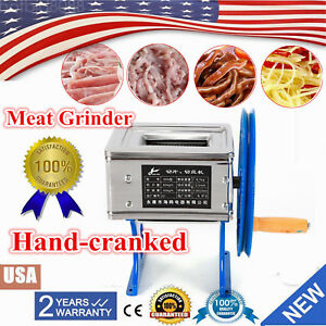 Small Hand cranked Meat Grinder Slicer Cutter Meat Cutting Machine Meat Slicer