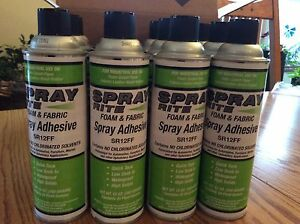 Spray Rite Foam And Fabric Spray Adhesive Case Of 12 Upholstery Glue