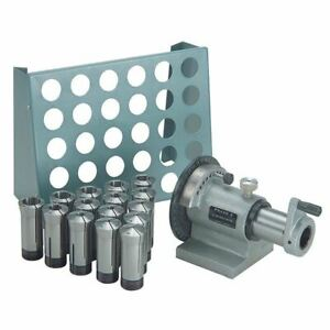 Ttc 5c wxcr 15 Pc 5c Collet Set W spin Index Fixture Collet Rack Package