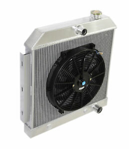 3 Core Performance Radiator 14 Fan For 55 57 Chevy Bel Air Nomad V8 Mt Only