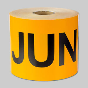 June Jun Months Year Stickers Schedule Calendar Monthly Days Labels 10 Rolls