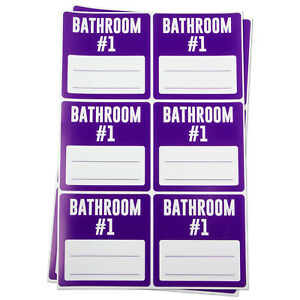Bathroom 1 Blank Labels For Memo Note Home Garage Moving Box Stickers 10rolls