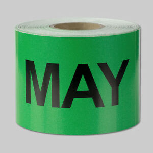 May Months Stickers Schedule Date Calendar Days Monthly May Labels 10 Rolls
