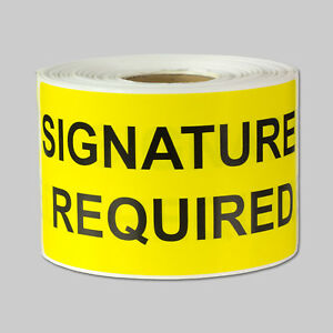 Signature Required Shipping Stickers Sign Sale Store Labels 2 X 4 10 Rolls