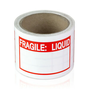 Fragile Liquid With Writing Area Stickers Blank Labels 2 X 3 10 Rolls