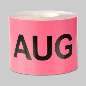 August Months Stickers Schedule Date Calendar Days Monthly Aug Labels 10 Rolls
