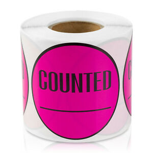 Counted Stickers Inventory Control Blank Store Number Labels 2 X 2 10 Pk