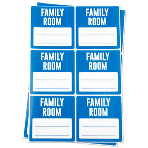 Family Room Labels With Blank Memo Note Home Moving Box Write Stickers 10rolls