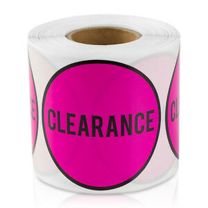 Clearance Stickers Sales Garage Retail Point Flea Market Store Labels 10 Rolls