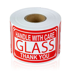 Handle With Care Glass Thank You Stickers Caution Labels 2 X 3 10 Rolls