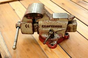 Vintage Craftsman No 391 5180 Combination Swivel Bench Vise 3 5 Jaws 17 Lbs