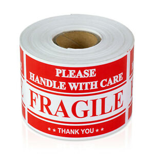 Please Handle With Care Stickers Caution Warning Thank You Labels 10 Rolls