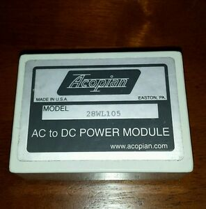 New Acopian 28wl105 Ac dc Power Supply Module