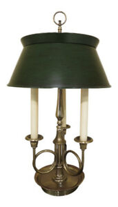 Lf30296ec Frederick Cooper Brass Desk Or Table Lamp W Tole Shade