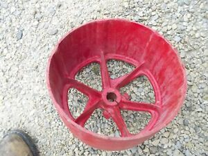 Mccormick Farmall F12 F14 Tractor Original Ih Steel Belt Pulley Real Nice