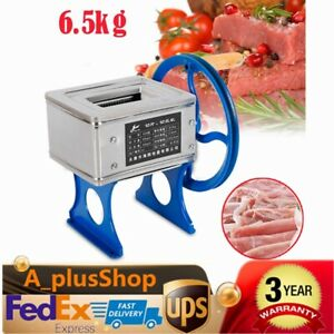 Hand cranked Meat Slicer Grinder Manual Meat Cutter Cutting Machine Commercial